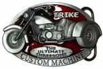 Trike The Ultimate Threesome Custom Machine (red) Belt Buckle with display stand. Code SB8